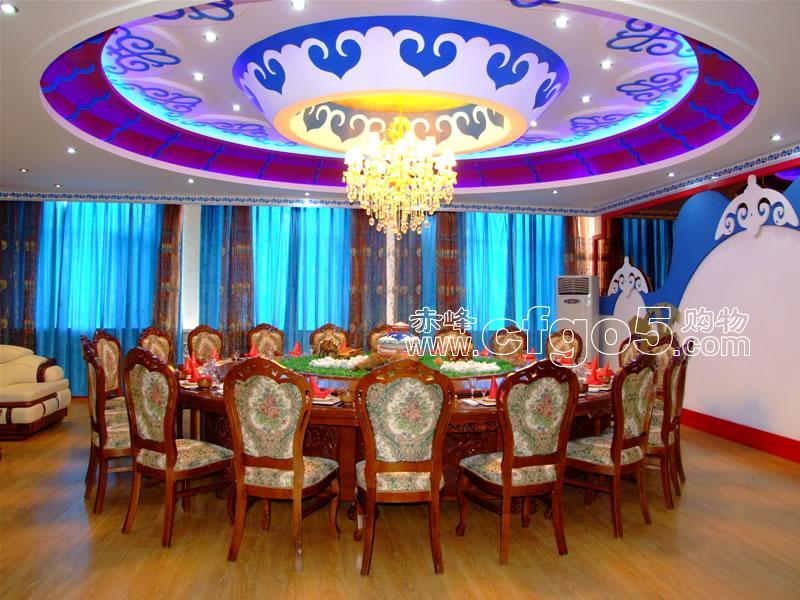 蒙古饭店装修风格图片